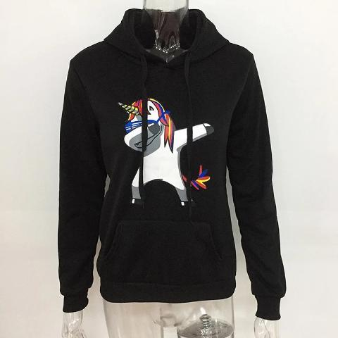Sweat Licorne Dab noir