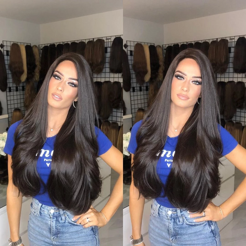 2019 beauty long natural black hair