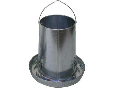 25 lb Galvanized Poultry Feeder