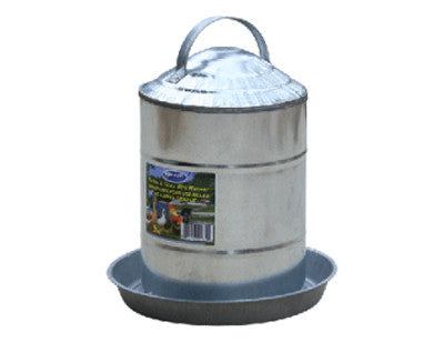 2 Gallon Galvanize Double Wall Poultry Waterer
