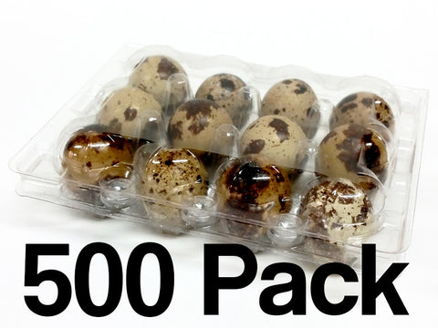 Quail Egg Cartons - 12 Egg Capacity - 500 Pack - FREE shipping