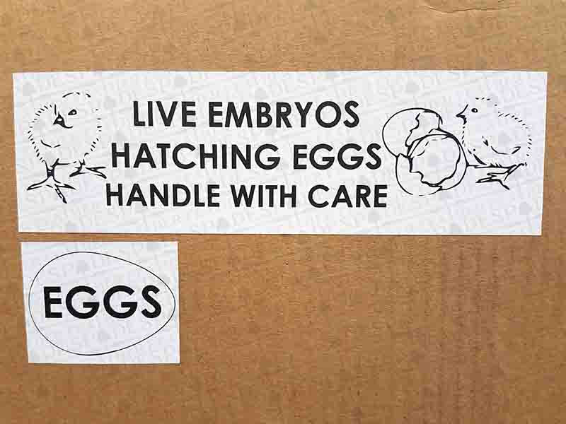 Egg Shipping Stickers