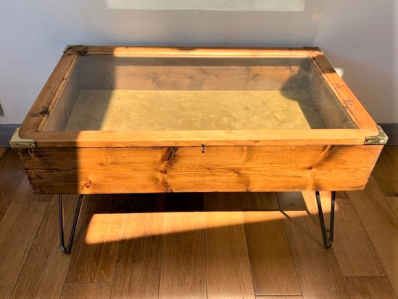 Display Case Coffee Table with Hairpin Legs - Retro & Vintage Furniture and Homewares