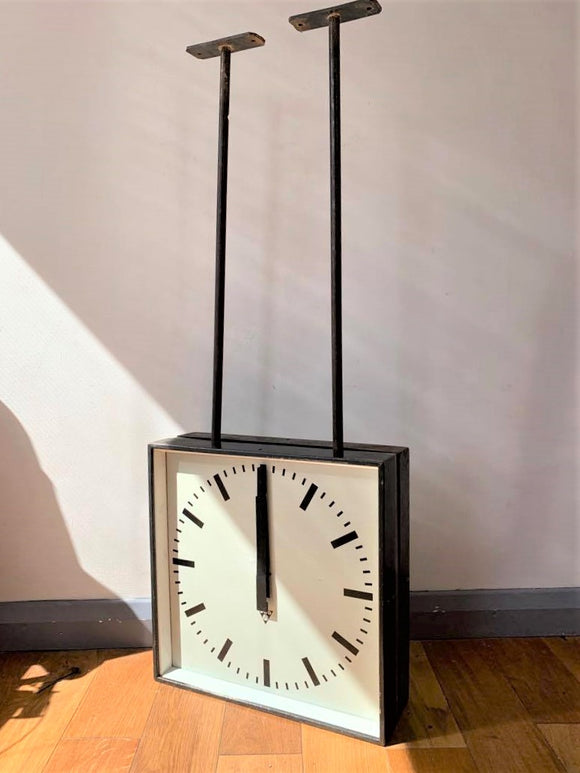 Double Sided Vintage Clock by PRAGOTRON - Retro & Vintage Furniture and Homewares