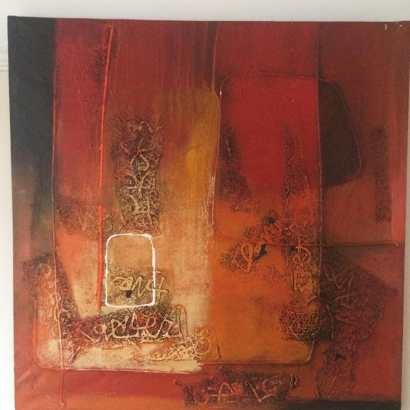 Large Oil Painting On Canvas / Contemporary Artwork - Retro & Vintage Interiors