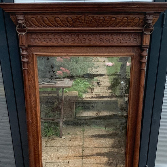 Handcrafted Over Mantel / Wall Mirror With Distressed Plate - Retro & Vintage Furniture and Homewares