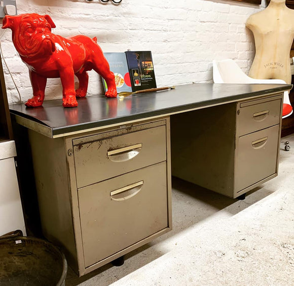 Roneo Industrial Metal Desk. - Retro & Vintage Furniture and Homewares