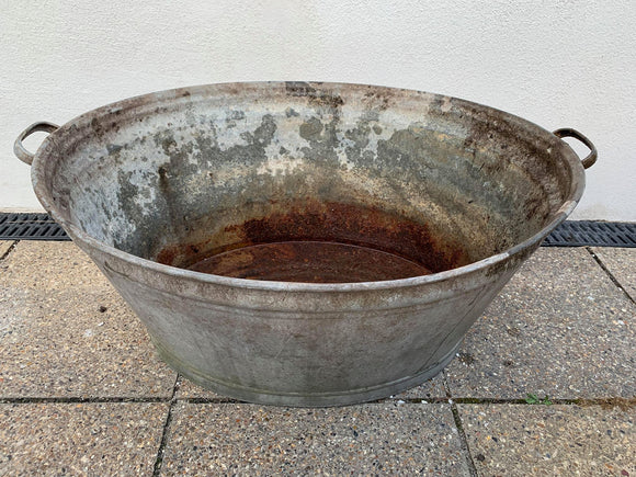Large Galvanised Tub / Bath - Retro & Vintage Furniture and Homewares