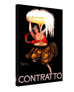 Leonetto Cappiello Contratto Canvas - Retro & Vintage Furniture and Homewares