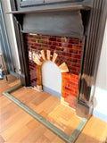 Edwardian Fire Surround Mantel with Tiled Insert - Retro & Vintage GB