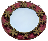 Convex / Fish Eye / Doomed Glass Mirror with decorative frame. - Retro & Vintage Interiors