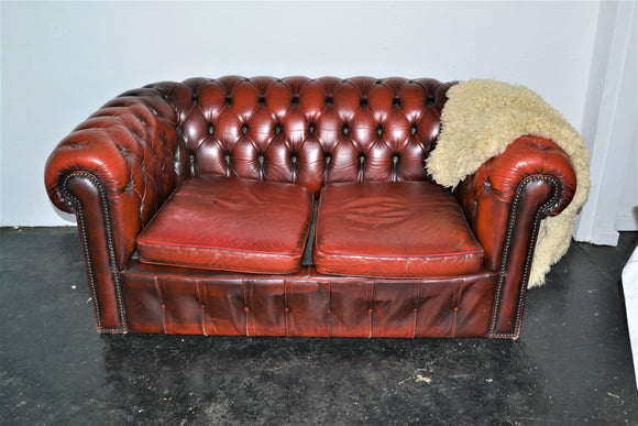 Chesterfield Two Seat Sofa. - Retro & Vintage Furniture and Homewares