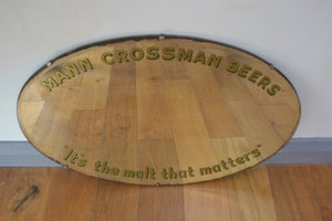 Mann, Crossman & Paulin Ltd Pub Advertising Mirror - Retro & Vintage Interiors