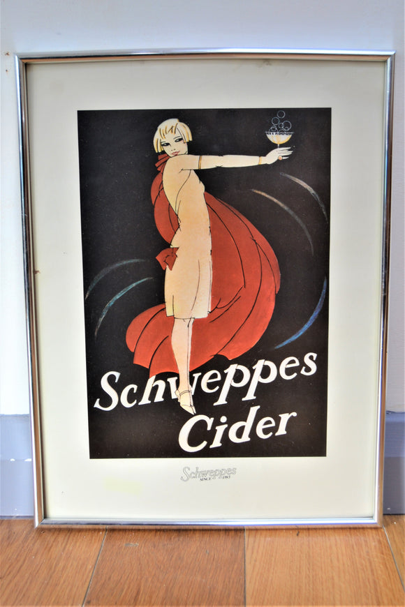 Art Deco Style Schweppes Cider Print - Retro & Vintage Furniture and Homewares
