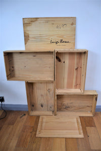 Wooden Wine Box / Crate - Retro & Vintage Furniture and Homewares