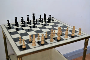 Vintage Set of Chess Pieces with Wooden Box - Retro & Vintage Furniture and Homewares