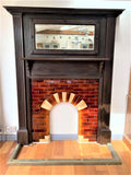 An Antique Base Brass Fireplace Fender - Retro & Vintage Interiors