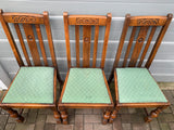 Oak Dining Chairs - Retro & Vintage Interiors
