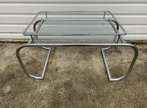 Chrome and Glass Coffee Table - Retro & Vintage Interiors