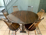 Ercol Windsor Gate-leg Oval Table - Model No. 610 - Retro & Vintage Interiors