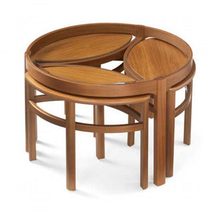Nathan Glass Top Trinity Coffee Table Nest - Retro & Vintage Furniture and Homewares