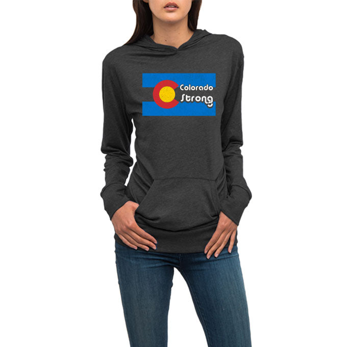 'Colorado Strong' Flag Lightweight Hoodie