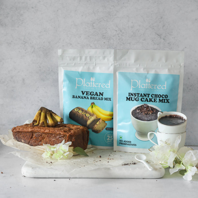 Vegan Banana Bread + Vegan Instant Choco Mug Cake Mix