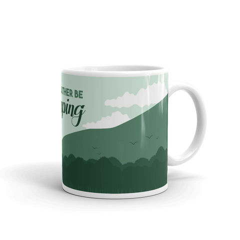 I'd Rather Be Camping Novelty Mug | Ideal Gift Mug For Someone Who Loves Camping