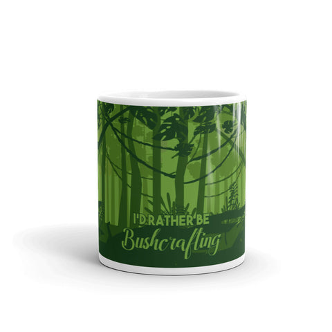 I'd Rather Be Bushcrafting Novelty Mug
