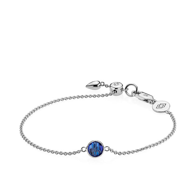 Prima Donna - Armbånd Sølv Royalblue Crystal