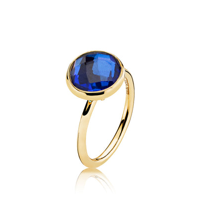 Prima Donna - Ring Guld Royalblue Crystal