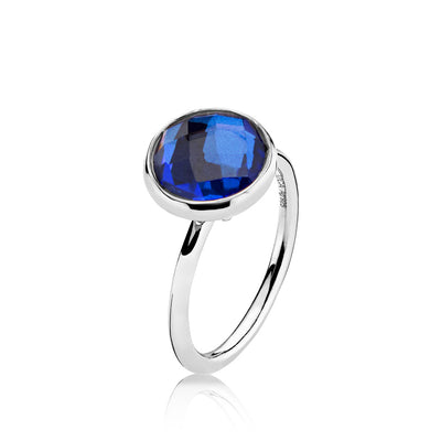 Prima Donna - Ring Sølv Royalblue Crystal