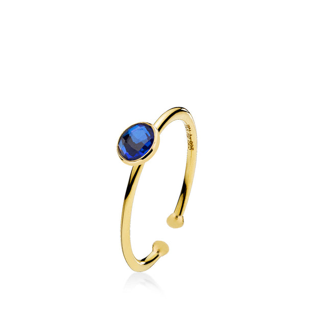 Prima Donna - Ring Guld Royalblue Small