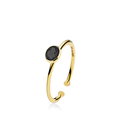 Prima Donna - Ring Guld Black Small