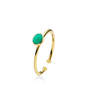Prima Donna - Ring Guld Green Small