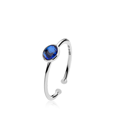 Prima Donna - Ring Sølv Royalblue Small