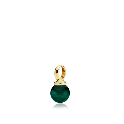 New Pearly - Vedhæng Guld Green Malachite