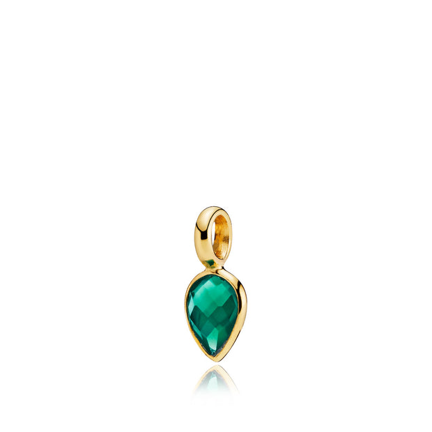 Droppie - Vedhæng Guld Green Onyx