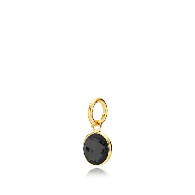 Prima Donna - Vedhæng Guld Black Onyx Small