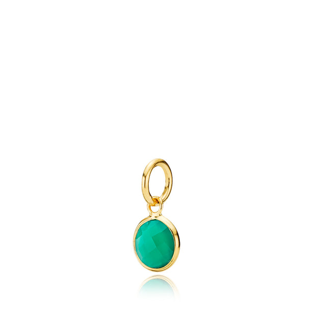 Prima Donna - Vedhæng Guld Green Onyx Small