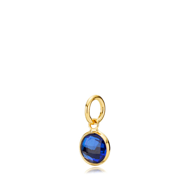 Prima Donna - Vedhæng Guld Royalblue Small