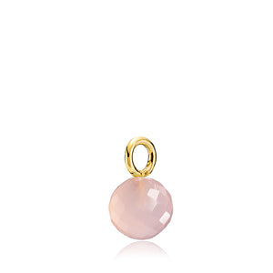 Marble - Vedhæng Guld Pink Calcedon