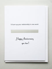 Anniversary: Friend to couple