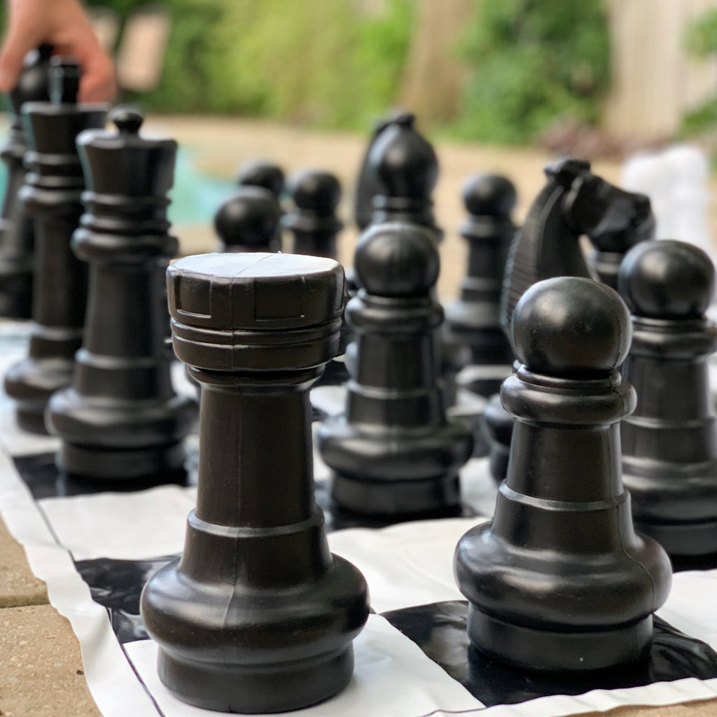 giant jumbo large chess checkers outdoor