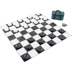 Jumbo Checkers Set (with 4' x 4' Mat & Carrying Case)