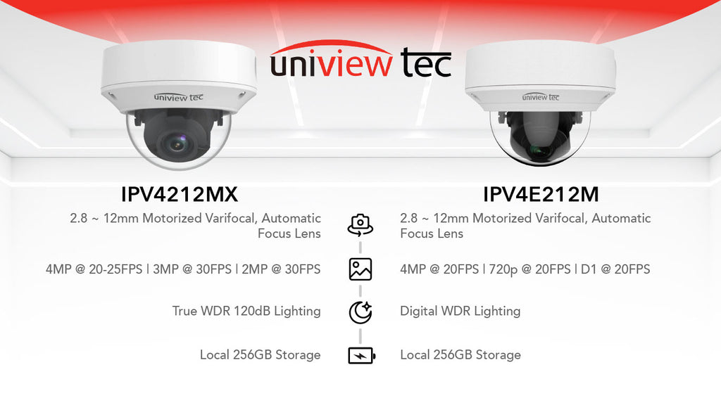 uniview tec 4mp in the $200 range vandal dome security cameras