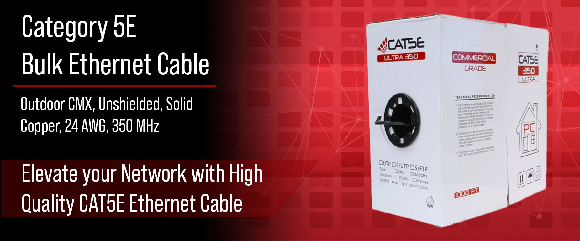 CAT5E Unshielded Bulk Outdoor Cable