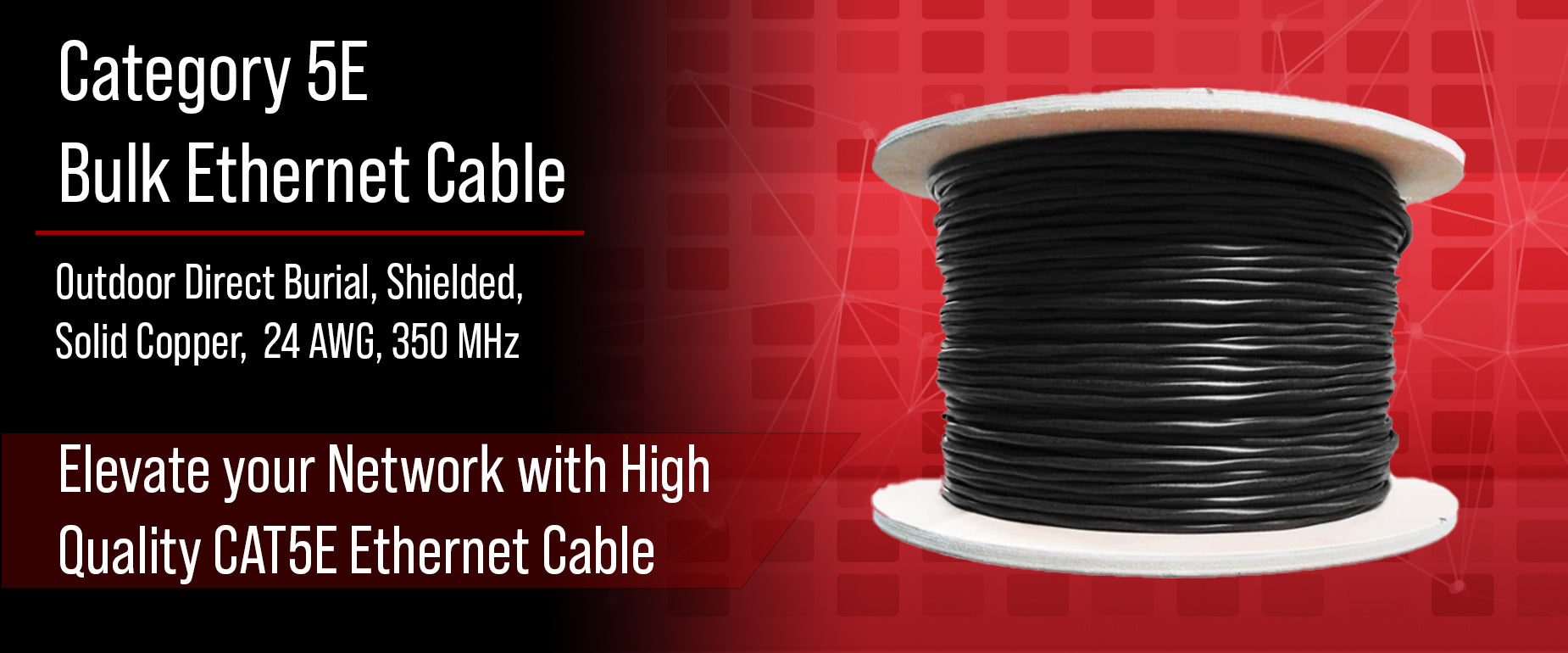 CAT5E Bulk Ethernet Cable Outdoor Direct Burial