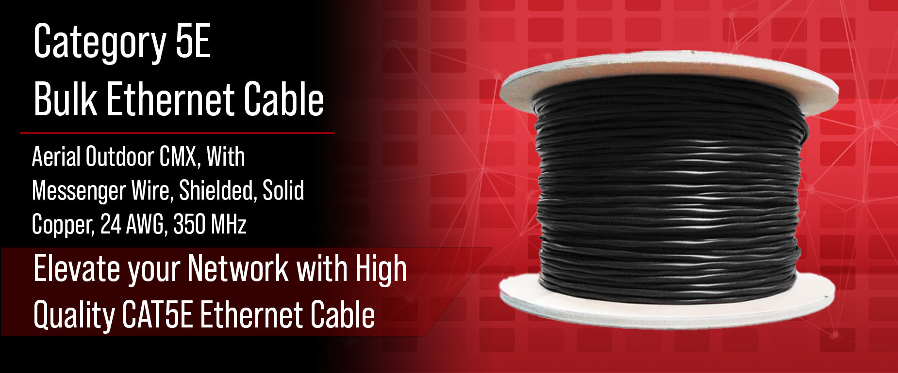 CAT5E Aerial Outdoor Shielded Cable