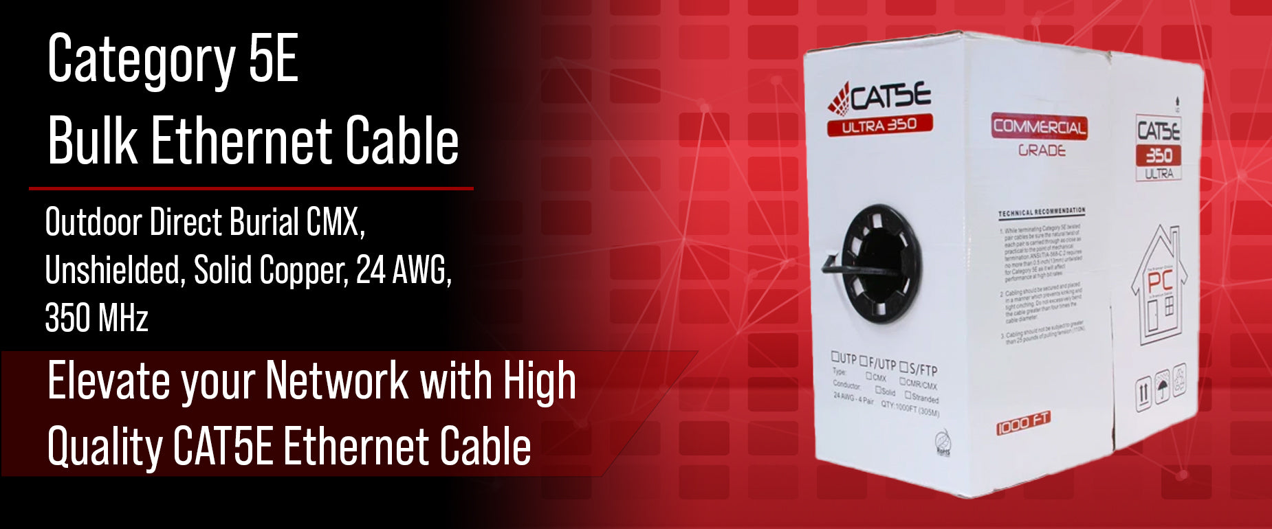CAT5E Bulk Outdoor Direct Burial Cable